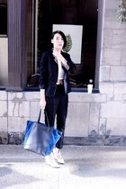 suit - Celine bag