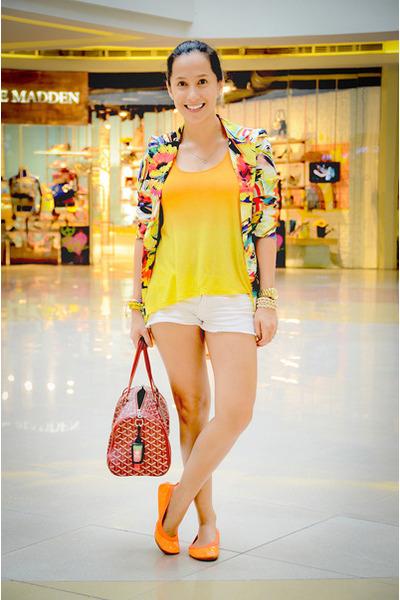 bought online blazer - Mango shorts - H&M top - Yosi Samra flats