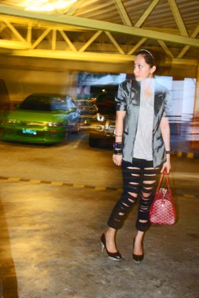 Loveculturemultiplycom blazer - DIY jeans - random from Hong Kong accessories -