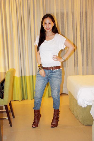 Forever 21 top - H&M belt - random from Hong Kong pants - random from Hong Kong