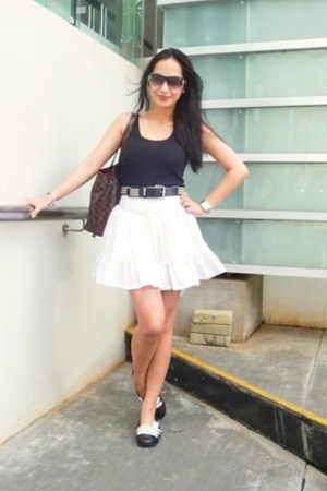 Topshop top - Poisonberry skirt - hottopic belt - GoJane shoes - LV Neverfull pu