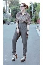 random from Hong Kong pants - Bershka blouse