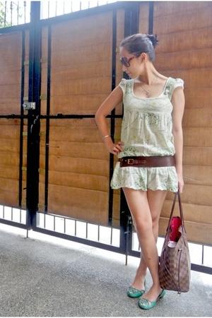dress - random from Hong Kong shoes - Mango belt - Louis Vuitton Neverfull purse