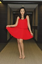 red modcloth dress - silver random from Hong Kong accessories