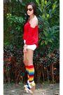 Bench-top-topshop-shorts-random-from-hong-kong-socks-bebe-shoes-rayban-s