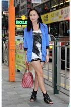 Loveculturemultiplycom blazer - Loveculturemultiplycom top - Forever21 shorts -
