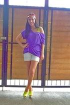 DIY top - Zara shorts - Topshop - shoes