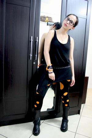 Ebay boots - Loveculturemultiplycom leggings - b  ab blouse - Zara belt