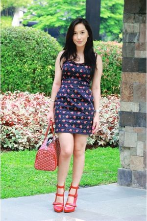 Forever 21 dress - Bakers shoes - goyard purse