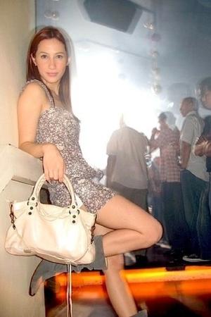 Topshop dress - balenciaga purse - random from Hong Kong boots