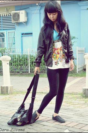 brown misisipi jacket - blue bali island top - black kuta lines accessories - bl
