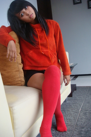 red unknown sweater