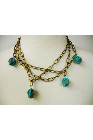 turquoise blue CB Designs necklace