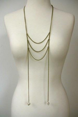 bronze CB Designs necklace