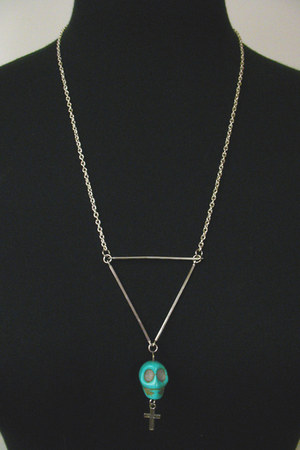 turquoise blue CB Designs NYC necklace