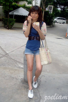top - belt - Bullhead shorts - nose shoes - coach purse