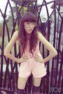 Pink-hana-intimate-black-socks-white-glasses-brown-shoes