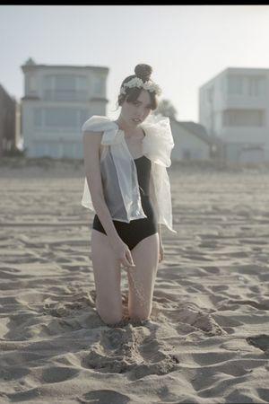 white zozocouture blouse - black dance works intimate - white zozocouture access