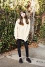 Black-creepers-tuk-shoes-wool-vintage-sweater