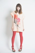 peach shift dress vintage dress