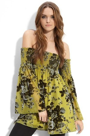 olive green floral Betsey Johnson shirt
