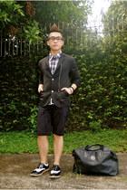 black mogao blazer - white Milanos shoes - black christian dior bag