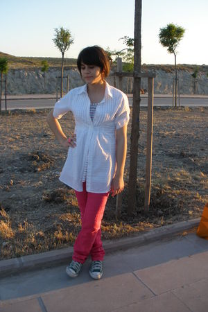 white Mango blouse
